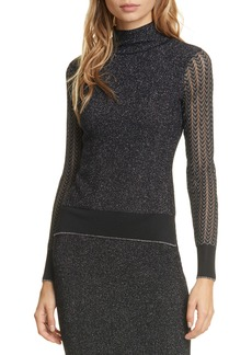rag & bone Rower Metallic Sweater