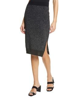 rag & bone Rower Metallic Merino Wool Blend Sweater Skirt