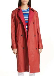 rag & bone Rufus Coated Cotton Trench Coat
