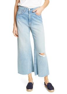 rag & bone Ruth Ripped Super High Waist Ankle Wide Leg Jeans (Frant)
