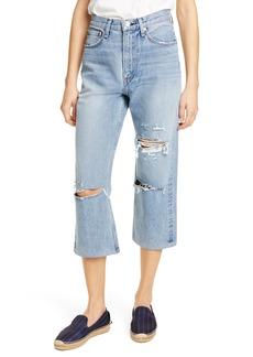 rag & bone Ruth Ripped Super High Waist Ankle Wide Leg Jeans (Wells)