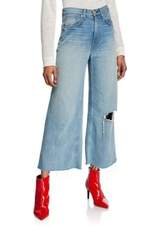 Rag & Bone Ruth Super High-Rise Ankle Wide-Leg Jeans
