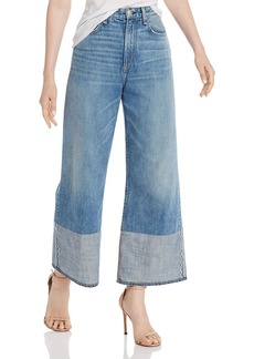 rag & bone Ruth Super High-Rise Ankle Wide-Leg Jeans in Neville