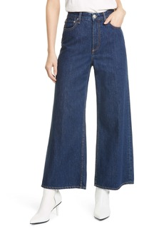rag & bone Ruth Super High Waist Crop Wide Leg Jeans (Cote Dazu)