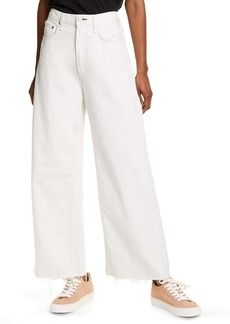 rag & bone Ruth Super High Waist Raw Hem Ankle Wide Leg Jeans (Chantry)
