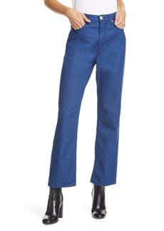 rag & bone Ruth Super High Waist Straight Leg Jeans (French Riv)