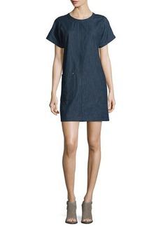 Rag & Bone Ryder Short-Sleeve Chambray Shift Dress