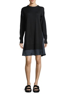 Rag & Bone Sadie Crewneck Long-Sleeve Wool Sweater Dress