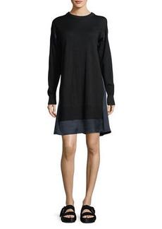 Rag & Bone Sadie Crewneck Long-Sleeve Wool Sweater Dress