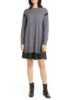 rag & bone Sadie Merino Wool & Silk Long Sleeve Shift Dress