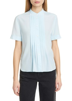 rag & bone Sarah Pleated Silk Blouse
