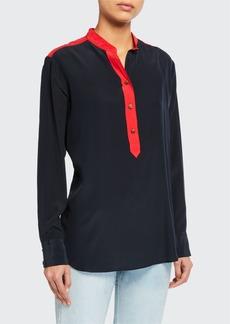Rag & Bone Scarlet Colorblock Button-Front Blouse