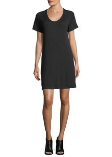 Rag & Bone Scoop-Neck Raglan Jersey Mini Dress