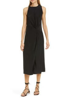 rag & bone Seon Twist Front Silk Midi Dress