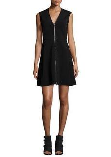 Rag & Bone Sharon Sleeveless Zip-Front Jersey Dress