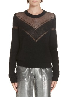 rag & bone Sheer Chevron Sweater