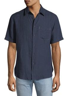 Rag & Bone Men's Short-Sleeve Linen Beach Sport Shirt