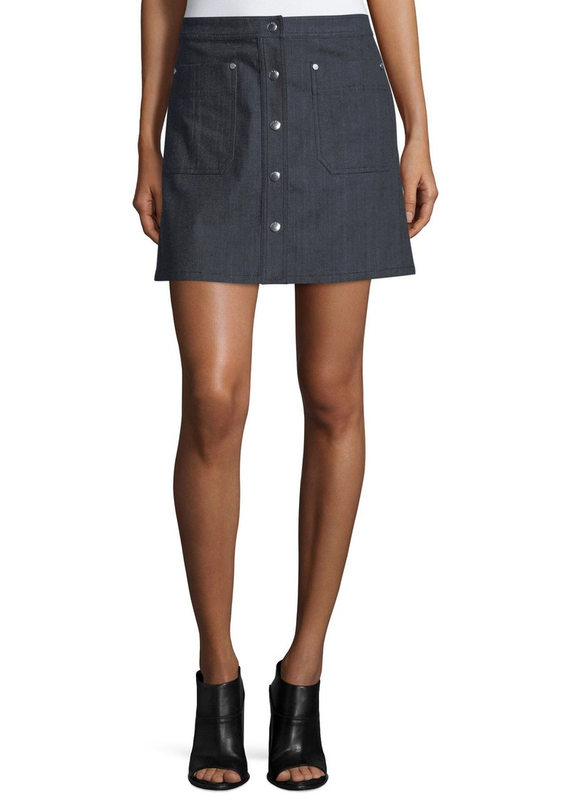 Rag & Bone Siggy Denim Mini Skirt