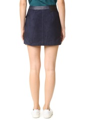 Rag & Bone Siggy Suede Skirt