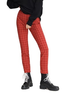 rag & bone Simone Plaid High-Waisted Ankle Pants