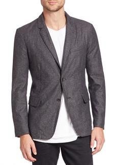 Rag & Bone Solid Blended Wool Blazer