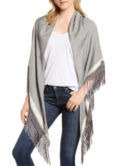 rag & bone Sport Stripe Silk & Wool Poncho