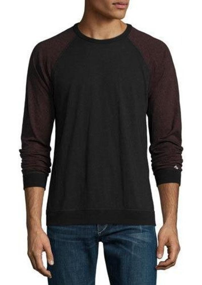 Rag bone rag bone standard issue colorblock baseball t for Rag and bone mens shirts sale