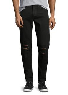 Rag & Bone Men's Standard Issue Fit 1 Slim-Skinny Jeans with Ripped Knees
