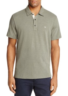 rag & bone Standard Issue Short Sleeve Regular Fit Polo Shirt
