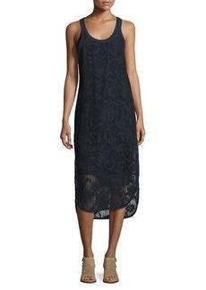 Rag & Bone Stella Floral Laser-Cut Tank Dress