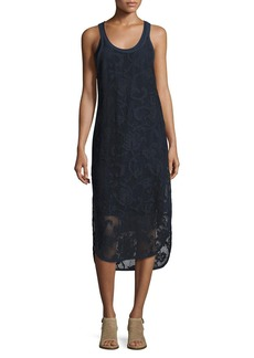 Rag & Bone Stella Floral Laser-Cut Tank Dress
