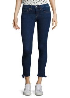 Rag & Bone Stevie Ankle Tie Capri Jeans/Paz