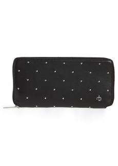 rag & bone Studded Calfskin Leather Zip-Around Wallet