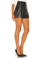 Rag & Bone Super High Rise Leather Short