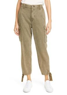 rag & bone Super High Waist Cotton Blend Cargo Pants