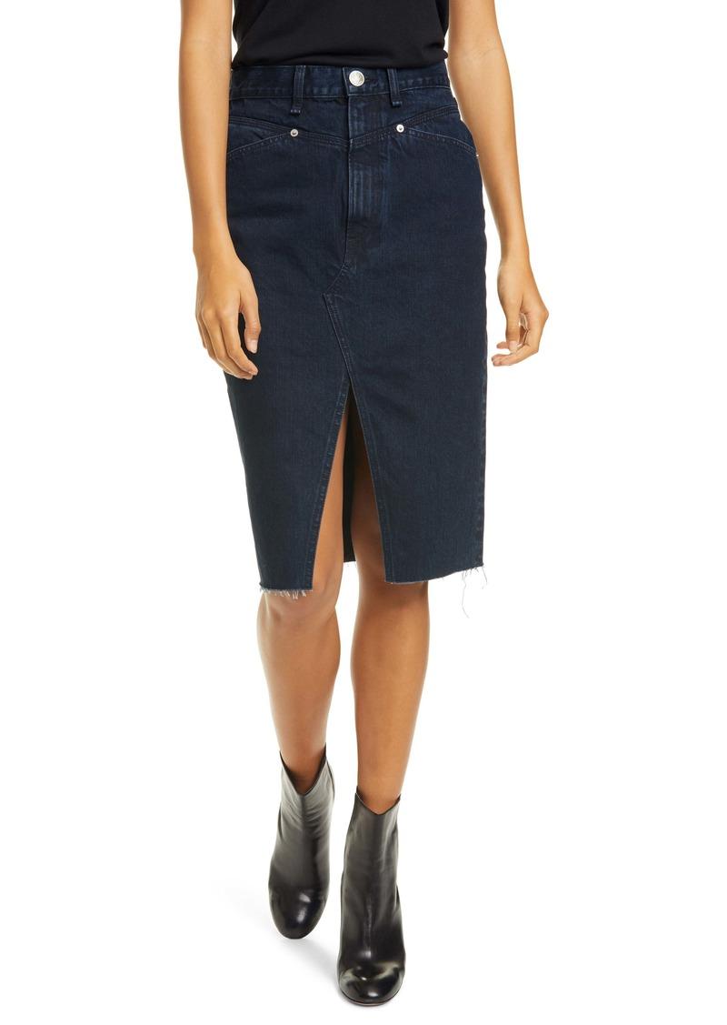 rag & bone Super High-Waist Denim Pencil Skirt (Outer Banks)