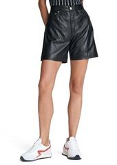 rag & bone Super High Waist Leather Shorts