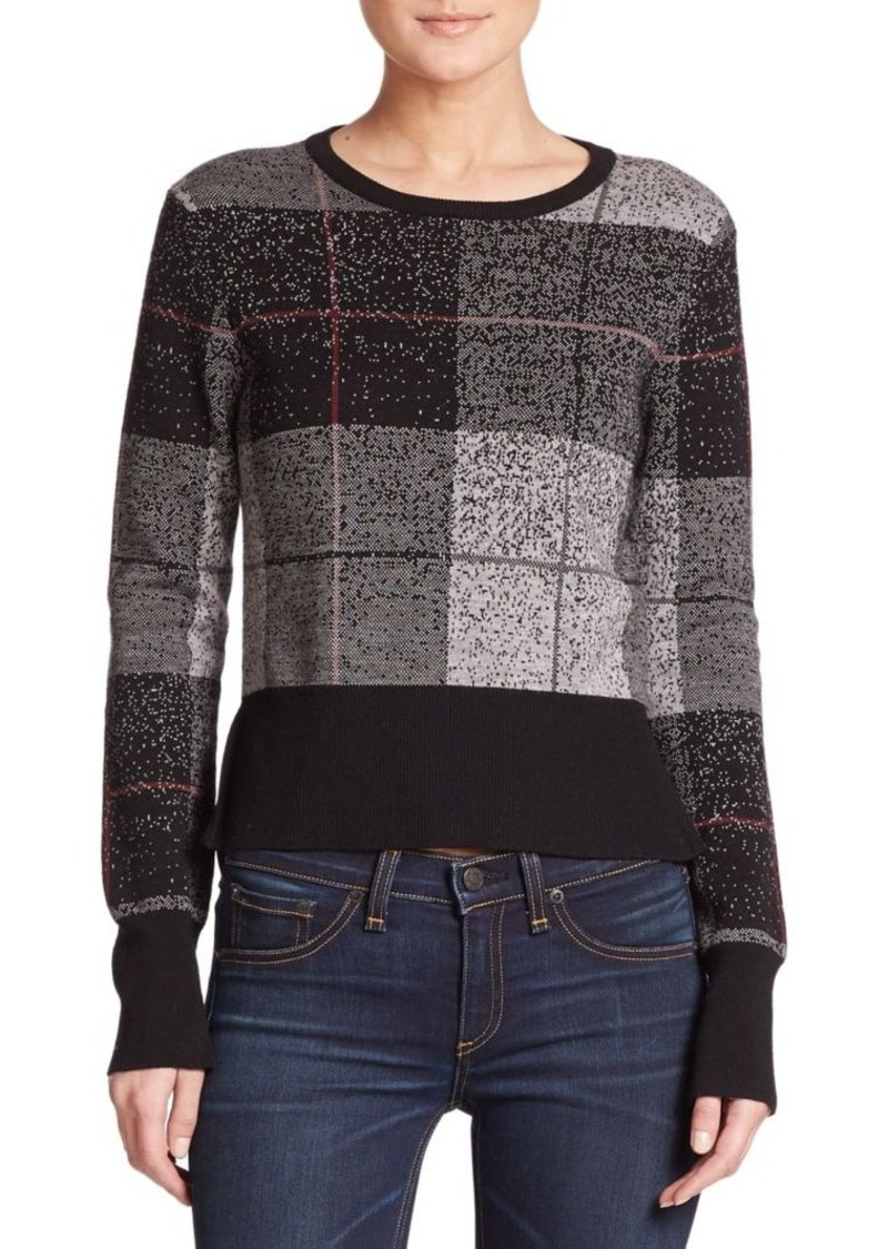 Rag & Bone Tegan Plaid Merino Wool Sweater