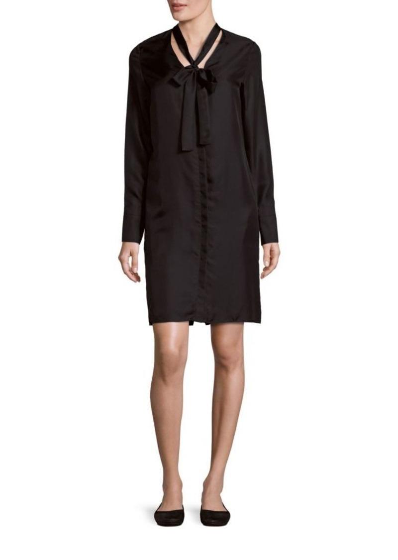 Rag & Bone Tie Detailed Silk Shirt Dress