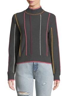 Rag & Bone Tom Embroidered Turtleneck Pullover Sweater