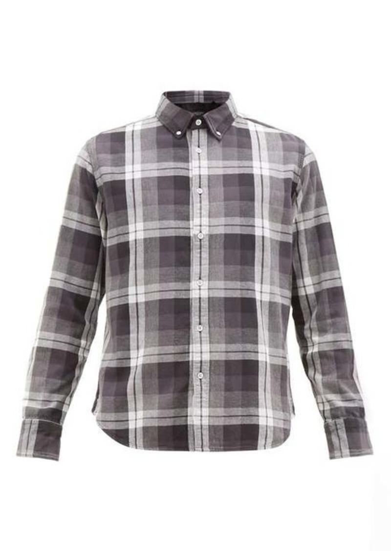 Rag & Bone Tomlin checked button-down cotton shirt