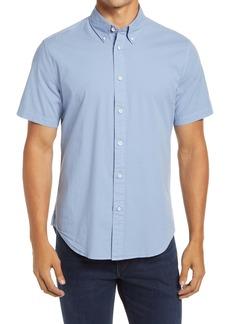 rag & bone Tomlin Slim Fit Solid Short Sleeve Button-Down Shirt