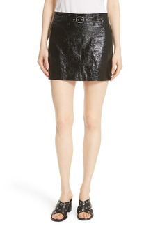 rag & bone Toni Leather Skirt