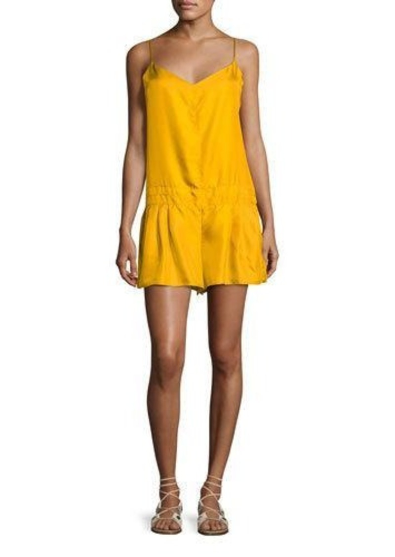 Rag & Bone Dropped-Waist Solid Dune Short Romper