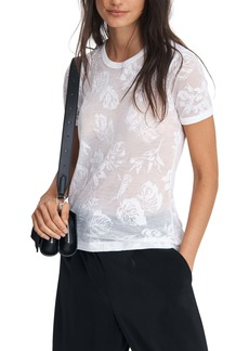 rag & bone Valencia Hawaiian Floral Burnout T-Shirt