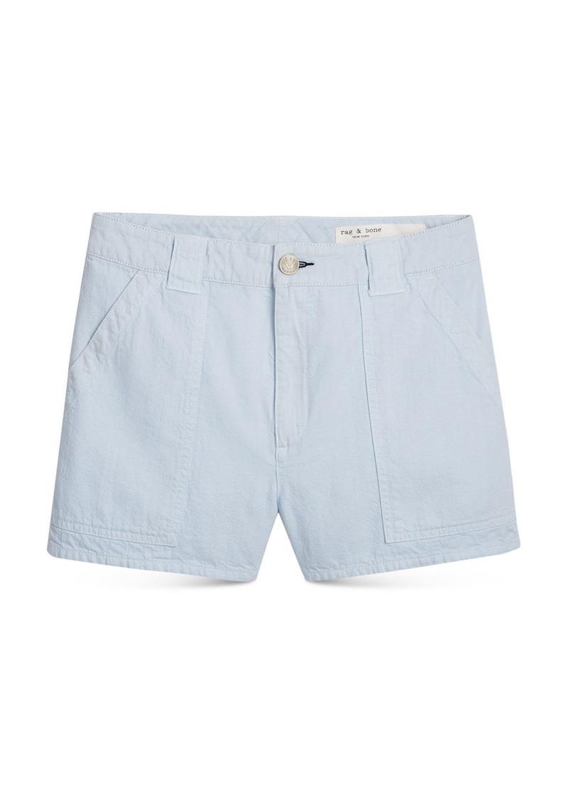 rag & bone Venice Cotton Slim Fit Shorts in Bay Blue