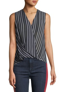 Rag & Bone Victor Sleeveless Surplice Striped Blouse