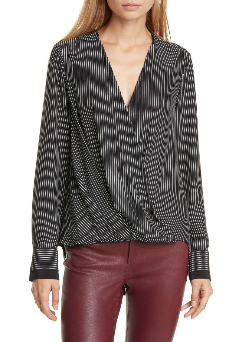 rag & bone Victor Stripe Silk Blouse