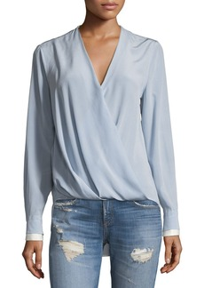Rag & Bone Victor Surplice Silk Blouse