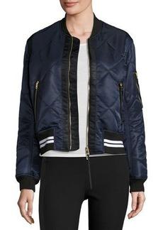 Rag & Bone Vine Zip-Front Quilted Bomber Jacket